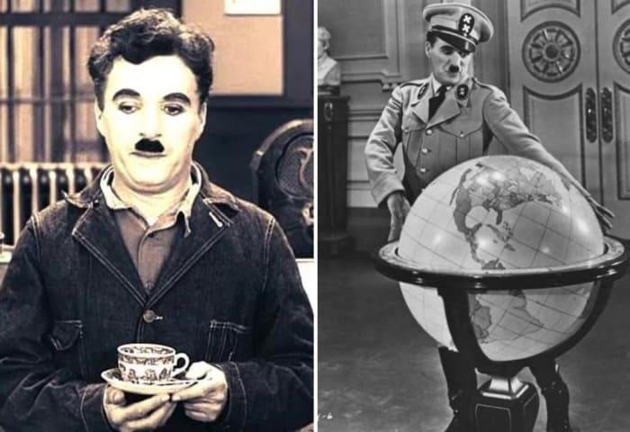 Многие обращали внимание на внешнее сходство героя Чарли Чаплина и Гитлера | Фото: kino-teatr.ru